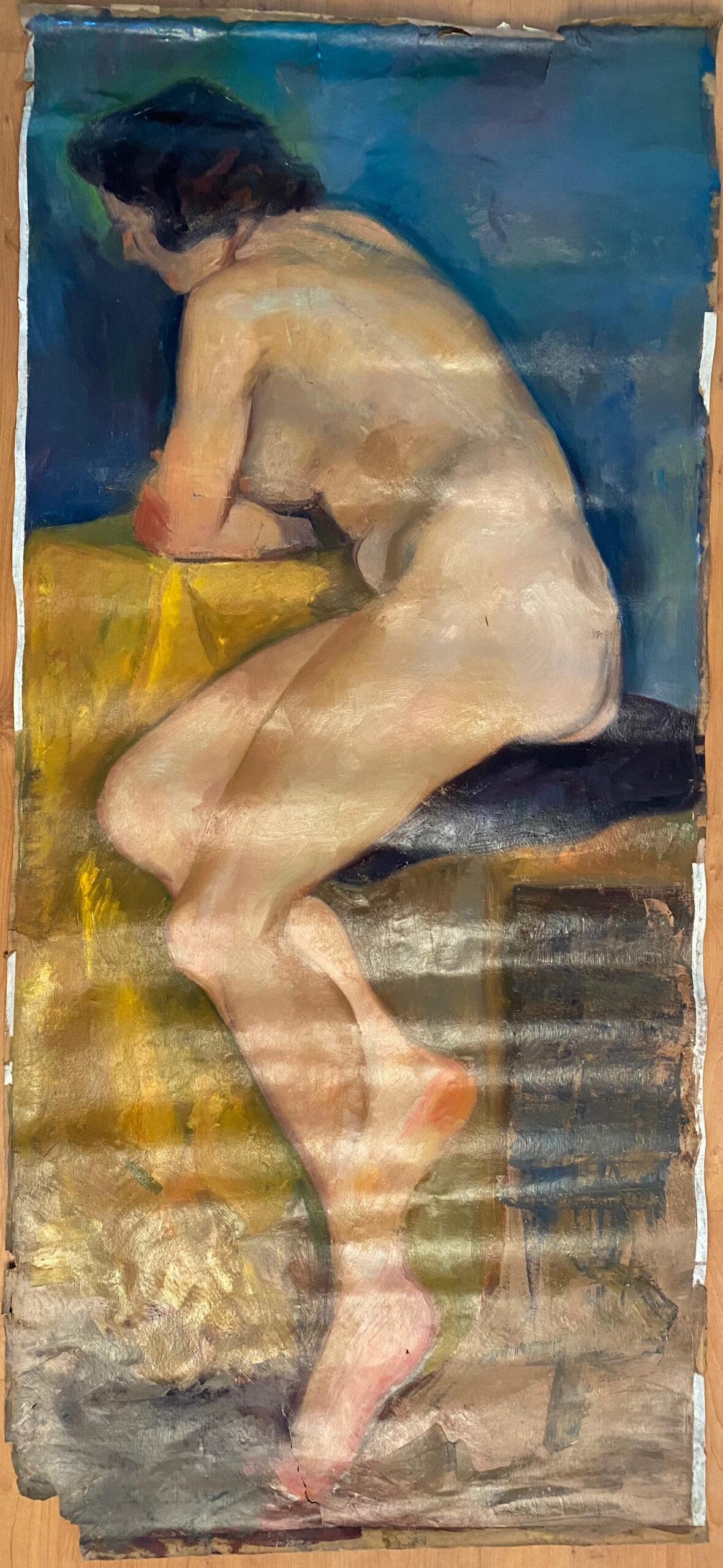 Creator: Benja Maton - van Gelderen (1926) Completion date: 1940-1944 Creation place: Rotterdam Signature: no Size: 73 x 160 cm Description:  Damages:
