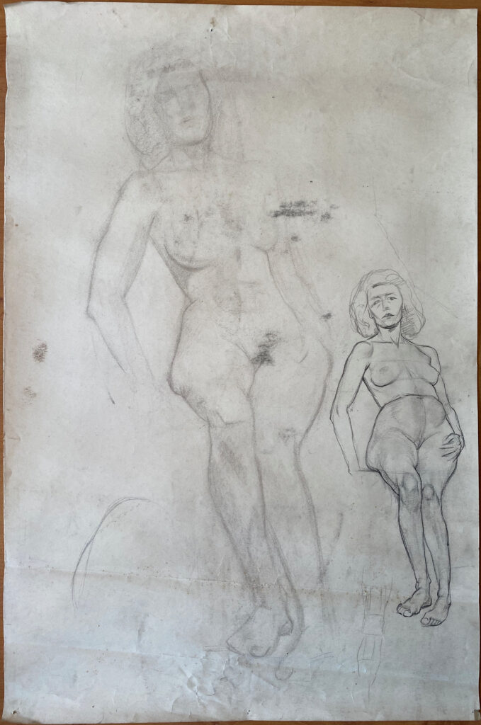 Creator: Benja Maton - van Gelderen (1926) Completion date: 1940-1944 Creation place: Rotterdam Signature: No Size: 75 x 95 cm Description:  Damages: [2021] charcoal marks due to double-sided use of paper