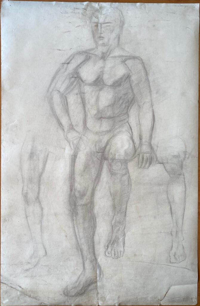 Creator: Benja Maton - van Gelderen (1926) Completion date: 1940-1944 Creation place: Rotterdam Signature: Benja Size: 65 x 100 cm Description: Damages: [2021] tears in paper